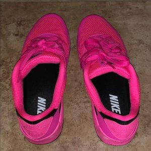 Custom pink Nike Air shoes